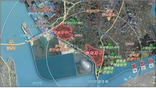 평택 포승 및 현덕지구 위치도. / 사진제공=황해경제자유구역청