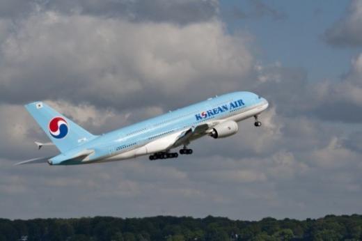 대한항공의 A380 항공기. /사진제공=대한항공