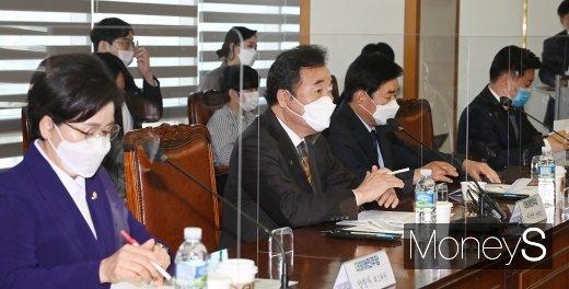 이낙연 더불어민주당 대표는 6일 한국경영자총협회 간담회에 참석했다. /사진=장동규 기자