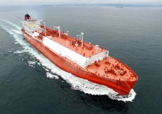 현대중공업이 건조한 LNG선. /사진=현대중공업 제공