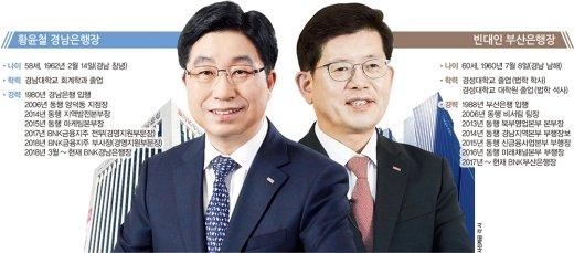 [맞수] 'PK 금융권 양분' 황윤철vs빈대인… 내년 3월 연임할까