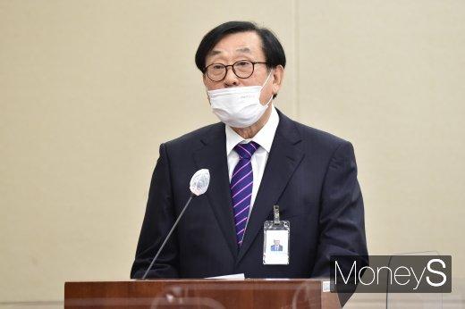 [머니S포토] 업무보고하는 김상균 방송문화진흥회 이사장