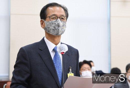 [머니S포토] 국감 업무보고 하는 최문순 강원도지사