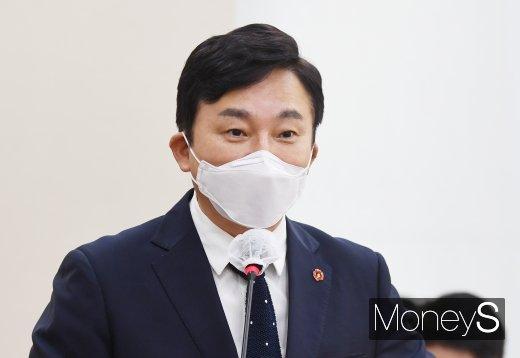 [머니S포토] 국감 출석해 업무보고 하는 원희룡 제주도지사