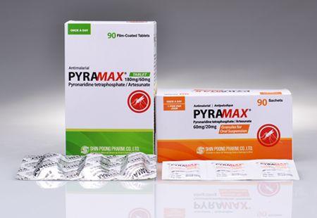 신풍제약의 말라리아치료제 피라맥스(성분명 피로나리딘·알테수네이트)의 신종 코로나바이러스 감염증(코로나19) 치료효과가 기대된다는 논문이 나왔다. /사진=신풍제약