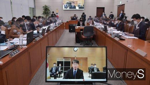 [머니S포토] 화상으로 진행된 주일·주중 대사관 2020 국정감사