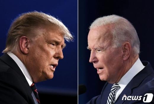 도널드 트럼프 대통령과 조 바이든 후보가 마지막 TV토론을 펼친다./사진=뉴스1