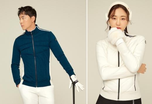 골프웨어 브랜드 와이드앵글은 스웨터와 패딩의 장점을 모두 갖춘 간절기 아우터 '듀얼 모드 스웨터'를 23일 출시했다. /사진=미디컴 제공
