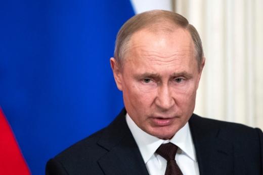 블라디미르 푸틴 러시아 대통령이 '푸틴 저격수' 알렉세이 나발니의 독극물 테러를 부인했다. /사진=로이터