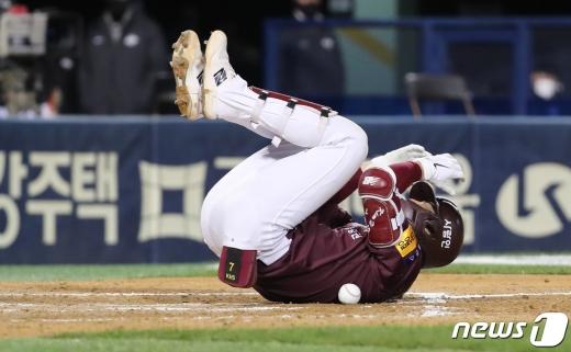 [사진] 키움 김하성 '너무 아파'