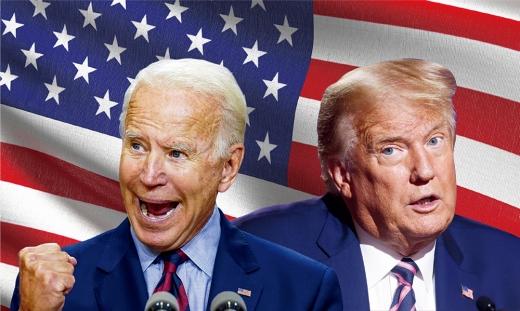 테네시주 내슈빌 벨몬트대에서 진행된 대선 후보 TV 토론에서 트럼프와 바이든 두 후보는 토론 주제의 안팎을 넘나들며 날선 공방을 벌였다. /사진=로이터
