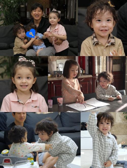 9개월 만에 돌아온 건나블리 남매와 막내 진우의 모습이 슈돌에서 공개된다. /사진=KBS2 슈퍼맨이 돌아왔다