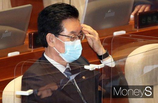 [머니S포토] 시정연설 참석한 정정순 의원