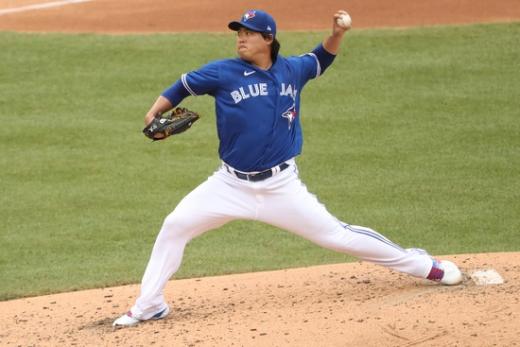 류현진은 이번 시즌 토론토 블루제이스로 이적한 뒤 팀의 포스트시즌 진출에 공헌했다. /사진=로이터