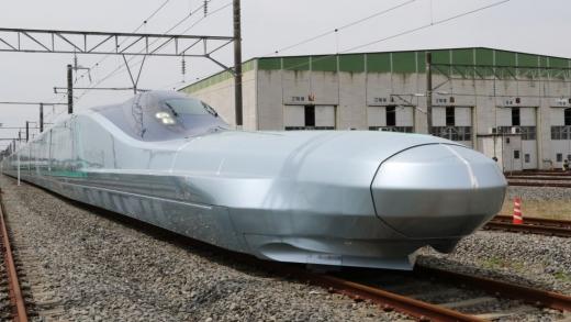 일본이 차세대 신칸센 고속전철 차량으로 개발 중인 알파엑스. /사진=CNN 캡처