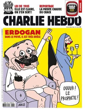 프랑스의 한 잡지가 이슬람 대통령을 풍자하는 삽화를 게재하며 파장이 커지고 있다./사진=샤를리 에브도 페이스북 갈무리