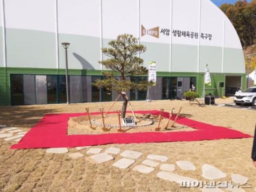김포시 서암생활체육공원(족구장) 앞 기념식수. / 사진제공=김포시