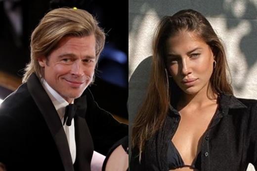 할리우드 배우 브래드피트가 안젤리나졸리를 닮은 29세 연하 니콜 포투랄스키와 결별했다. /사진=로이터, 니콜 포투랄스키 인스타그램