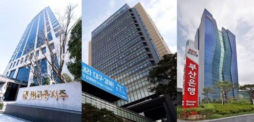 (왼쪽부터) JB금융그룹, DGB금융그룹, BNK부산은행./사진=각 사