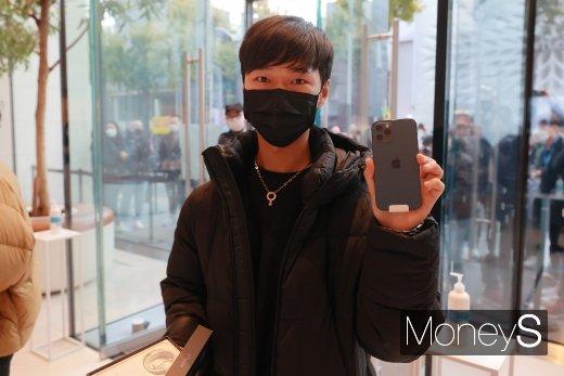 [머니S포토] '아이폰12 구매 성공!'