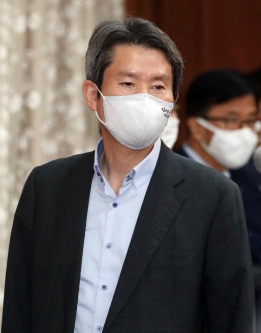 이인영 통일부 장관이 북측을 향해 남북 정상간 합의사항을 이행할 것을 촉구했다. /사진=뉴스1