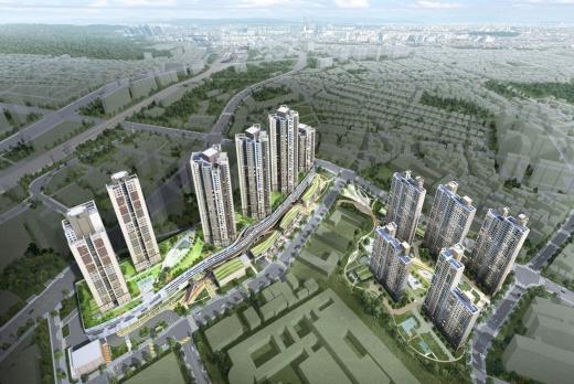 HDC현대산업개발이 국내 최대규모의 공공지원 민간임대주택인 '고척 아이파크' 프로젝트를 진행 중이다. 사진은 단지 조감도. /사진=HDC현대산업개발