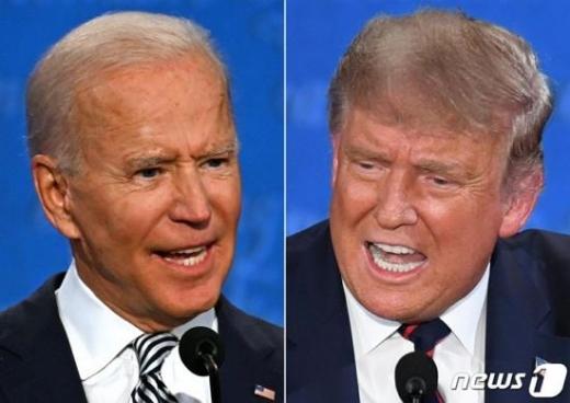 미국 3대 경합주에서 도널드 트럼프 대통령이 조 바이든 후보를 바짝 추격하고 있다./사진=뉴스1