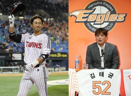 LG 박용택(왼쪽), 한화 김태균.© 뉴스1