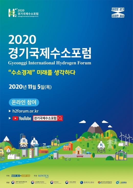 경기도, '2020 경기국제수소포럼' 포스터. / 사진제공=경기도