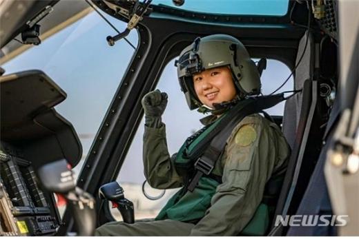 해병대에서 여성 헬기조종사가 탄생했다./사진=뉴시스