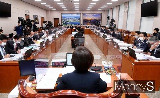 [머니S포토] 국회, 국토교통부 등 2021년 예산안 등 회의