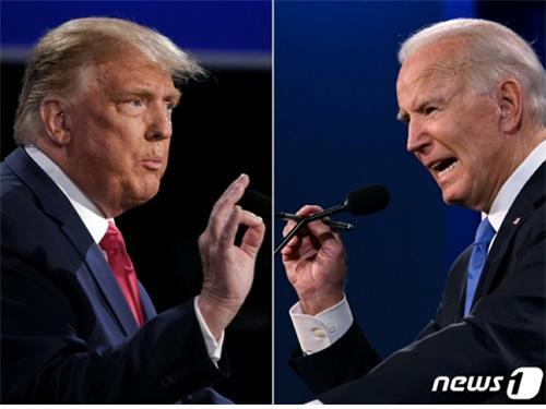 조 바이든 후보가 투표 직전 여론조사에서도 우위를 점했던 것으로 나타났다./사진=뉴스1