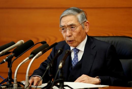 구로다 하루히코 일본은행 총재(사진)는 4일 신종 코로나바이러스 감염증(코로나19) 확산에 대응해 추가 금융완화 조치를 발동할 가능성을 시사했다. /사진=로이터