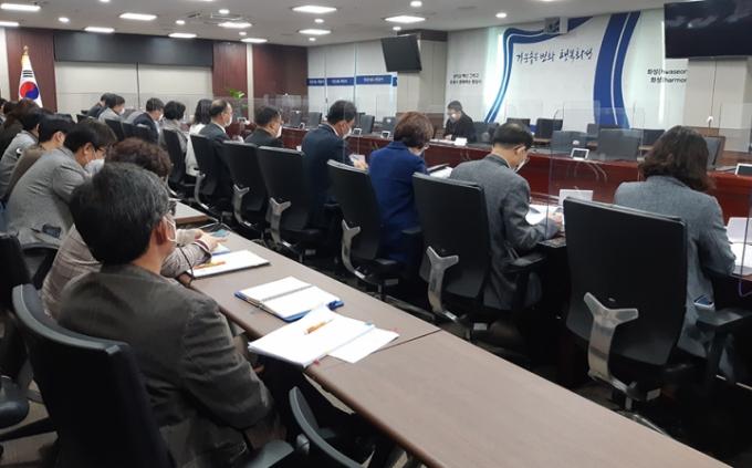 정부합동평가 대비 부서별 추진상황 보고회. / 사진제공=화성시