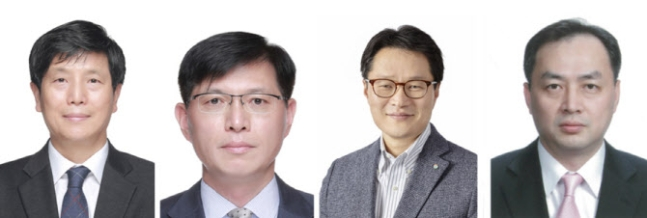 (왼쪽부터) 도정해 GS엔텍 대표, 오진석 GS리테일 전략부문장, 유재영 GS칼텍스 재무실장, 여은주 GS부사장. /사진=GS