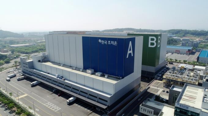 벨스타 슈퍼프리즈의 한국법인 주식회사 한국초저온이 경기도 평택 오성산업단지 내에서 운영하고 있는 세계 최초의 에너지자립형 초저온 복합물류센터. /사진=SK