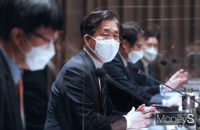 """[머니S포토] RCEP 성윤모 """"일본과 대등 경쟁할 수 있는 전략 업종 면밀히 분석 대응해야"""""""