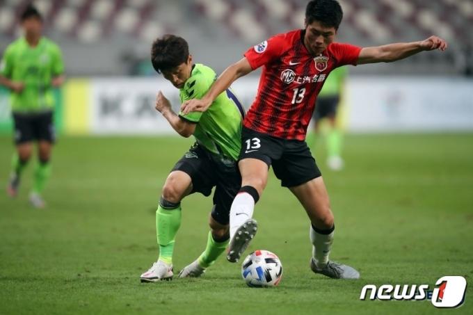 전북현대가 22일 열린 아시아챔피언스리그 경기에서 상하이 상강에 패했다. (한국프로축구연맹 제공)© 뉴스1