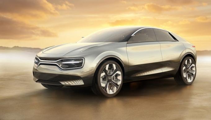 현대·기아자동차가 글로벌 전기차(순수전기차+플러그인하이브리드 기준) 시장 점유율 4위를 기록했다. 기아차의 콘셉트 전기차 '이매진 바이 기아'의 양산형에는 새로운 엠블럼이 적용될 예정이다. /사진=기아차