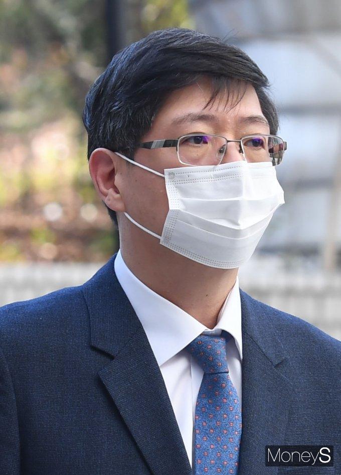 [머니S포토] 김홍걸 의원, 재산 축소 혐의 공판
