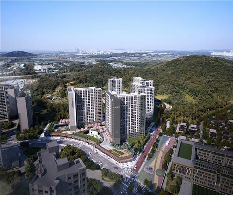 호반써밋 DMC 힐즈는 지하 2층~지상 23층, 5개동 총 560가구로 조성된다. 전가구가 소비자 선호도 높은 전용면적 84㎡로만 구성됐다. /사진제공=호반건설