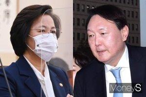 """윤석열 내친 추미애, 사상 초유 직무배제 """"무거운 심정"""""""