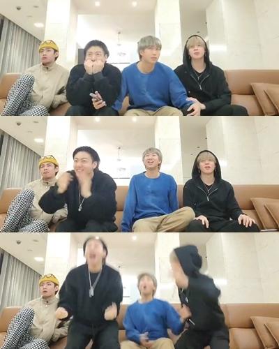 그룹 방탄소년단(BTS) 멤버들이 제63회 그래미 어워드 후보에 오르는 찰나를 공개했다. /사진=방탄소년단 트위터 캡처
