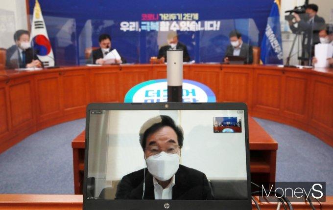 [머니S포토] 윤석열 집무정지 관련 발언하는 민주당 이낙연