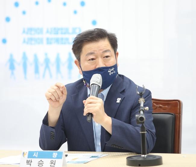 심리방역지원단 발대식에서 박승원 광명시장. / 사진제공=광명시