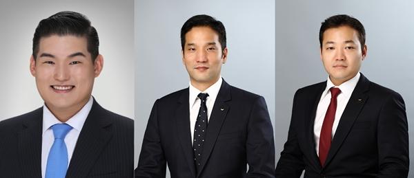 (왼쪽부터) 장선익 동국제강 이사, 이태성 세아홀딩스 부사장, 이주성 세아제강지주 부사장. /사진=각 사