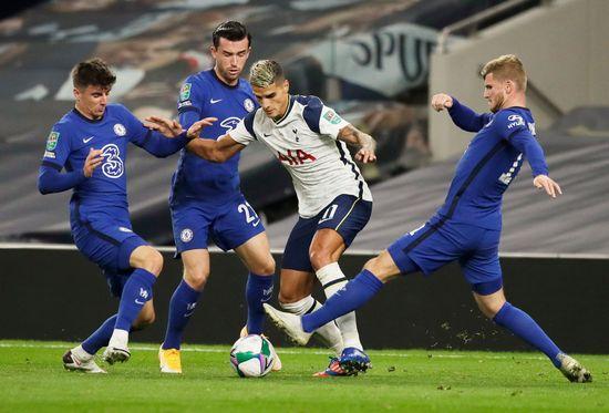 잉글랜드 프로축구 첼시(푸른색 유니폼)와 토트넘 홋스퍼가 이번 시즌 리그에서 첫번째 만남을 갖는다. /사진=로이터