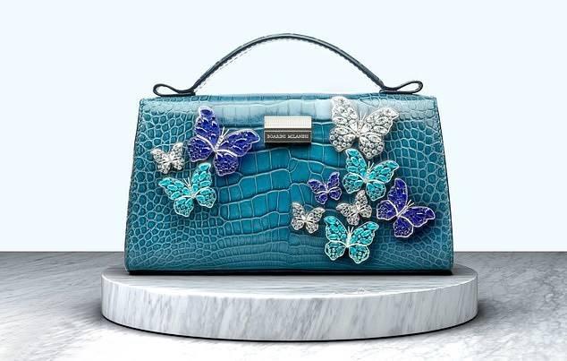 이탈리아의 고급 액세서리 브랜드 보아리니 밀라네시는 푸른 광택이 나는 악어가죽으로 만든 핸드백을 530만파운드의 가격으로 책정했다. /사진=밀라네시 제공