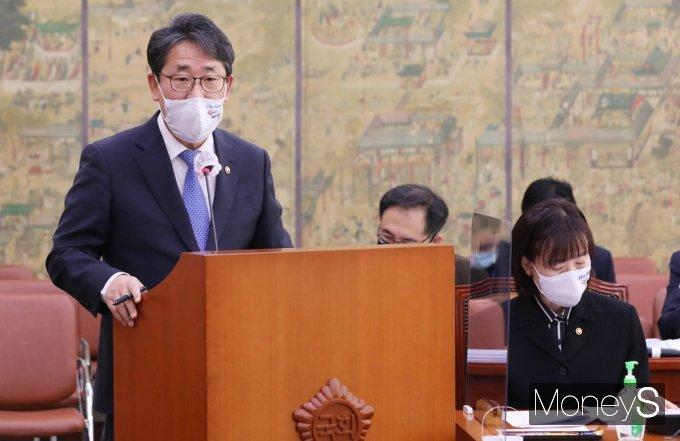 [머니S포토] 현안보고하는 박양우 문체부 장관