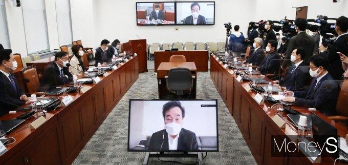 """[머니S포토] 민주당 이낙연 """"가덕 신공항 경제적 파급효과 대단히 많아"""""""